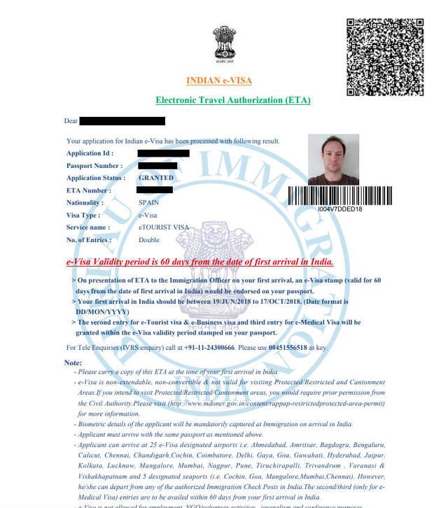 Visado e-Visa para la India