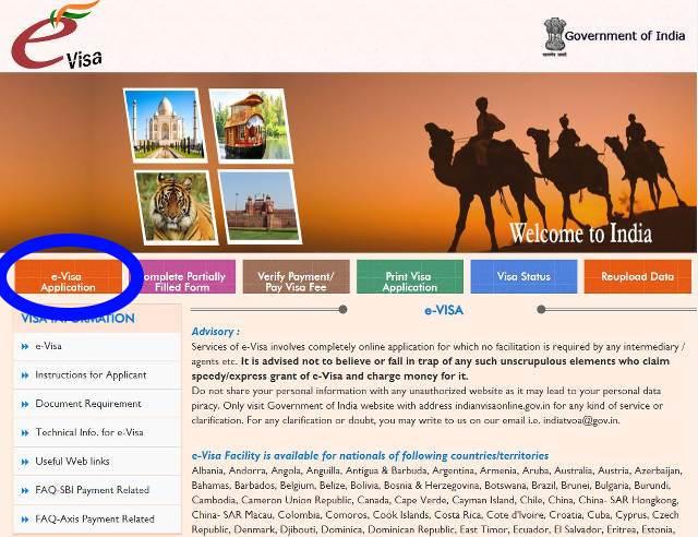 Solicitar e-Visa India